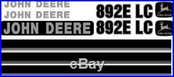 John Deere 892E LC Excavator Decal Set with Stripe JD Decals