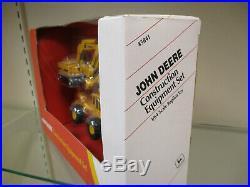 John Deere Backhoe/Loader, Excavator & Skidder 3-Piece Set by Ertl 1/64th Scale