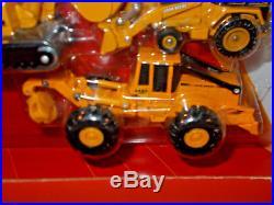 John Deere Excavator, Backhoe/Loader, Log Skidder, Construction Set By Ertl