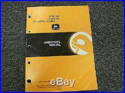 John Deere Model 690E LC Excavator Owner Operator Maintenance Manual OMT162125