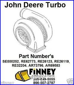 John Deere NEW Turbocharger 440D 448D 540D 548D LOG SKIDDER GRAPPLE Turbo NEW