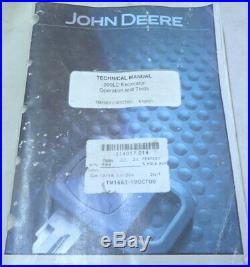 John Deere TM1663 200LC Excavator Operation & Test Factory Service Repair Manual