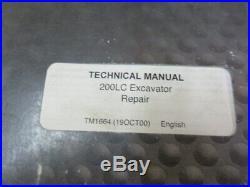 John Deere TM1664 200LC Excavator Factory OEM Service Repair Manual