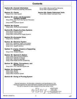 John Deere Technical Manual 450CLC Excavator Repair 450 TM1925 on CD