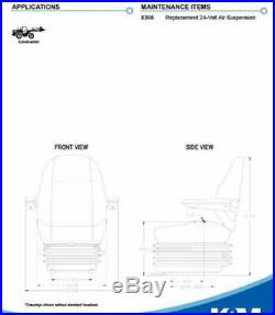 KM 1010 Uni Pro Seat and Suspension Seat Dozers, Excavators, Wheel Loaders Case