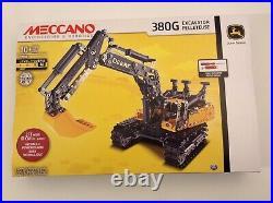 Meccano Engineering & Robotics 380g John Deere Excavator New & Sealed