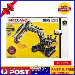 Meccano John Deere 380g Excavator Model Building Kit Stem 725 Piece Age10+