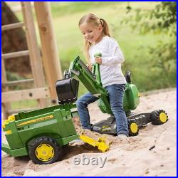 Mobile 360 Degree Ride-On Excavator Earth Sand Play Outdoor Activity Kids New UK