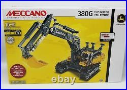 NEW Meccano Engineering & Robotics 380G John Deere Excavator FACTORY SEALED Buil