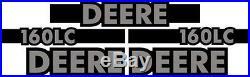 New John Deere 160LC Excavator Decal Set with 20' x 5 Black Stripe JD Decals