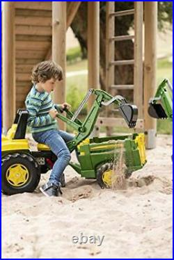 Rolly toys John Deere Pedal Tractor with Working Loader and Backhoe Digger Yo