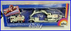 Siku Man Lorry With Trailer And Menck Excavator No. 4012 Mib Boxed