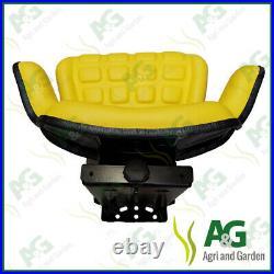 Universal Suspension Seat Yellow suits John Deere Dumper, digger, Forklift