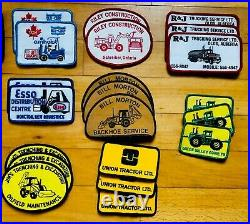 VTG patch lot 30 excavator truck tractor John Deere Esso oil gas Kenworth NOS OG