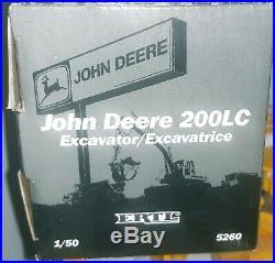 Vintage Ertl John Deere 1/50 CONSTRUCTION EQUIPMENT LOADER, DOZER, EXCAVATOR, More