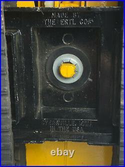 Vtg Ertl Yellow John Deere Diecast Metal Track Excavator Tractor Claw Bucket USA