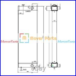 Water Tank Radiator Assy For John Deere Excavator 650DLC